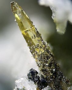 Synchysite-(Ce) | #Geology #GeologyPage #Mineral    Locality: Hopffeldboden, Obersulzbach Valley, Salzburg, Autriche   FOV: 2.5 mm   Photo Copyright © Gerhard Brandstetter    Geology Page  www.geologypage.com