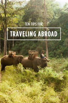 10 tips for traveling abroad /