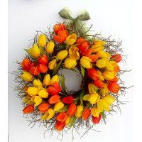 Product Details Tulip Wreath, Floral Wreath, Spring Front Door Wreaths, Wedding Wreaths, Mother Day Gifts, Tulips, Doors, Crafts, Decoration