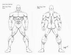 Resultado de imagen para super hero body sketches