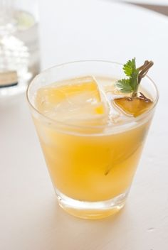 Pineapple Cilantro Serrano Cocktail | 21 Deliciously Spicy Cocktails