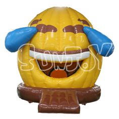 Face with tears of joy inflatable dome bounce house for sale, commercial jump house new design for kids.