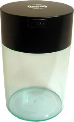 Amazon.com - Tightvac Coffeevac 1 Pound Vacuum Sealed Storage Container, Clear Body/Black Cap - Coffee Canister