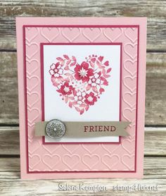 Create with Selene: January Card Class ~ Featuring the Stampin' Up! Bloomin Love Stamp Set, In Person, and To Go: