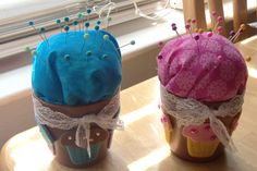 Girls made these pin cushions for competition - so easy!