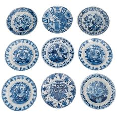 Part of Our Collection of Blue and White Dutch Delft Dishes and Chargers | From a unique collection of antique and modern dinner plates at https://www.1stdibs.com/furniture/dining-entertaining/dinner-plates/
