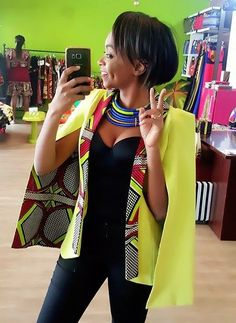 Outstanding Cape Blazer by Nana Wax - Frolicious Are you looking for African inspired Fashion? You should check out the beautiful and outstanding Cape Blazer by Nana Wax. African Print Dresses, African Fashion Dresses, African Attire, African Wear, African Women, African Dress, African Prints, Ghanaian Fashion, African Style