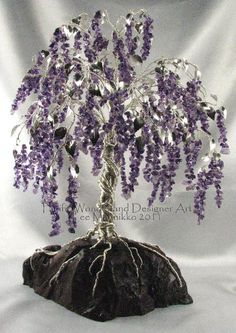 How To Make A Wire Tree   ... > Pacific Wonderland > Wire Tree Sculptures > Weeping Wisteria tree