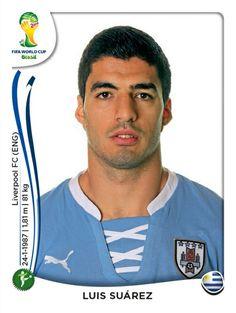 278 Luis Suárez - Uruguay - MUNDIAL BRASIL 2014