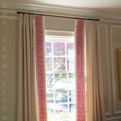 Amy Vermillion Interiors - drapery with wide band