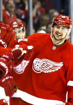 Pulkkinen scores winner as Red Wings hold off Oilers Just A Game, Detroit Red Wings, Christmas Sweaters, Jackets, Scores, Tigers, Goals, Twitter, Down Jackets