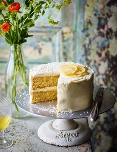 This coconut lemon drizzle cake recipe with zesty frosting is a fun exotic twist on a traditional British bake.