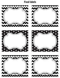 black and white printable labels