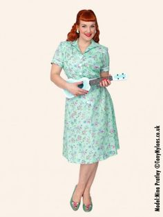 1940s Day Tea Dress from Vivien of Holloway
