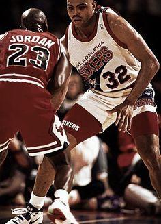 Michael Jordan Chicago Bulls Charles Barkley Philadelphia Sixers
