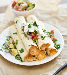 Chipotle cheese slow cooker chicken taquitos are the perfect weeknight meal. Throw all of the ingredients in a slow cooker and let it go! Slow Cooker Recipes, Crockpot Recipes, Chicken Recipes, Cooking Recipes, Slow Cooking, Yummy Recipes, Yummy Food, Crockpot Dishes, Beer Recipes