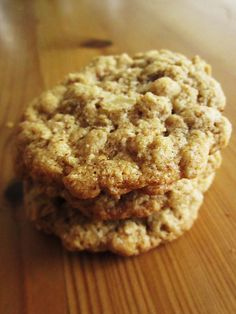 Soft & Chewy GF Oatmeal Cookies (no special ingredients required, you'd already have everything on hand!) (add raisins)