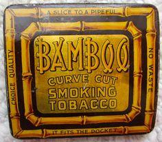Bamboo tobacco tin (curved pocket)