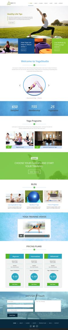 YogaStudio – A Free One Page PSD Template    #psdtemplate #webdesign