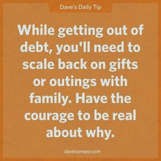 I remember how hard it was to have to tell family that I could no longer afford to buy Christmas gifts etc. for everyone and stopped. I was having to charge gifts I couldn't afford and created bills that made the budget tighter. Money Tips, Money Saving Tips, Total Money Makeover, Financial Success, Dave Ramsey Financial Peace, Financial Quotes, Financial Literacy, Budget Planer, Show Me The Money