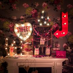 https://flic.kr/p/DupF6C | Valentine`s Day | my valentine`s day light decoration on the fireplace