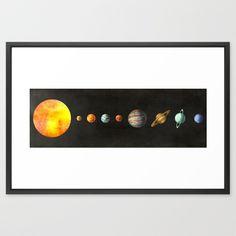 The Solar System Framed Art Print