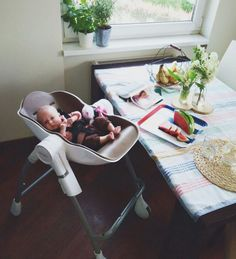 Naps everywhere is fine as long babies are in this comfortable cocoon highchair.
