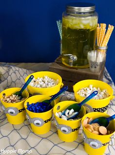 Beach Party Minions party food The deviled eggs!Minions party food The deviled eggs! Minions Birthday Theme, Minion Theme, 4th Birthday Parties, Birthday Bash, Birthday Party Decorations, Minon Birthday Party Ideas, Minion Party Essen, Minion Party Food, Minion Party Favors