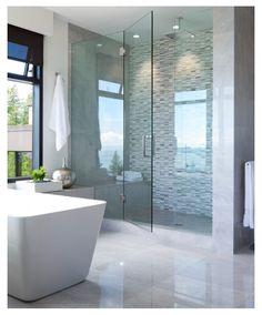 Sleek bathroom design