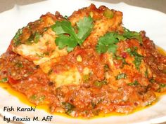 The most delicious, flavourful and spicy fish karahi! Guaranteed that this will be the best curried fish recipe you will ever need! ;)