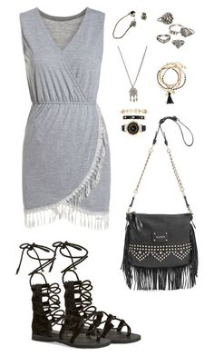 """""""623"""" by julialeskiv ❤ liked on Polyvore featuring Jeffrey Campbell, GUESS, Mudd, With Love From CA, H&M and Anne Klein"""