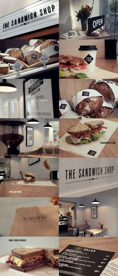 The Sandwich Shop by Phil Robson, via Behance #identity #packaging #branding #marketing PD