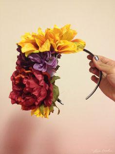 diy sugar skull floral headband | #dayofthedead #halloween #diy