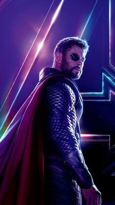 Thor In Avengers: Infinity War Marvel Man, Marvel Avengers Movies, The Avengers, Man Thing Marvel, Marvel Heroes, Marvel Movie Posters, Avengers Poster, Superhero Poster, Wallpaper Thor