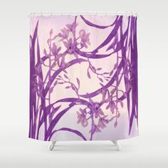 vice versa floral in purple Shower Curtain