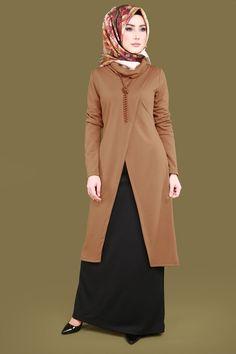 İnci Kolyeli Combined Combo Taba – Belgin – Join the world of pin Abaya Fashion, Fashion Wear, Fashion Outfits, Womens Fashion, Gym Outfits, Muslim Women Fashion, Islamic Fashion, Abaya Mode, Hijab Stile