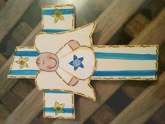 cruz para bautizo