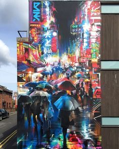 This colourful wall by @dankitchener is a beautiful addition to Bristol for Upfest 2016. http://globalstreetart.com/dank #globalstreetart #dankitchener #dank #mural #upfest #bristol #uk