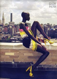 Grace Bol #South Sudanese-American beauty and fashion supermodel #editorial