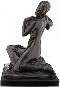 Leopold Fleischhacker (1882 - 1946) - Sich trocknender Akt