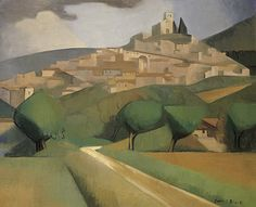 Dorrit Black, Australia, 1891 ‑ 1951, Mirmande, c.1928, Mirmande, France, oil on canvas, 60 x 73.8 cm -