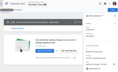 DELIVER PERSONALIZATION WITH NEW FEATURES IN GOOGLE OPTIMIZE Web Analytics Tools, Google Page, Webmaster Tools, Google Analytics, User Experience, Web Design, Learning, Teaching, Education