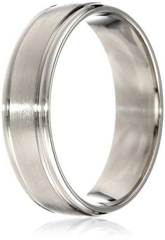Mens 10k White Gold Satin Textured Comfort Fit Plain Wedding Band Size 9 Curated Collection Http Www Dp B004ghnq2w Ref