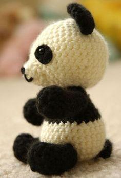 Panda Bear Amigurumi Free Crochet Pattern, häkeln, Anleitung