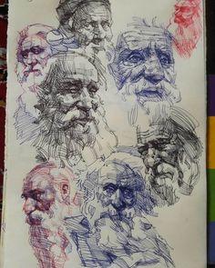Portrait Sketches, Art Drawings Sketches, Portrait Art, Ink Pen Drawings, Love Drawings, Portrait Illustration, Portraits, Biro Art, Ballpoint Pen Drawing