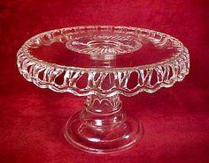 Cooperative Flint Glass Pedestal Cake Salver #44, c. 1890 from shererheaven on Ruby Lane
