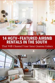 Have you ever watched an episode on HGTV and then immediately wanted to investigate every nook and cranny of that house? Now you can! These 14 Airbnb rentals were featured on HGTV's various shows, and they are each dotted around the south – easy for our Atlanta readers to get to and enjoy. Madison, AL ~~ Atlanta, GA ~~ Woodstock, GA ~~ Nashville, TN ~~ Rosemary Beach, FL ~~ New Orleans, LA ~~ Hilton Head, SC ~~ Laurel, MS ~~ Charleston, SC Top Family Vacations, Woodstock Ga, South Carolina Vacation, Airbnb Rentals, Rosemary Beach, Nook And Cranny, Joanna Gaines, Charleston Sc, Travel With Kids