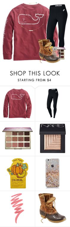 """got a one hundo on my health test!"" by katie-gia ❤ liked on Polyvore featuring NIKE, tarte, NARS Cosmetics, Tony Moly, Victoria's Secret and L.L.Bean"