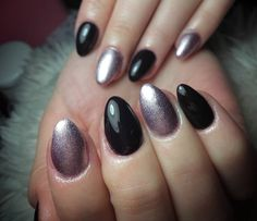 cool 40 Fascinating Ways to Style Black Nails – Topping the Ladder of Elegance Check more at http://newaylook.com/best-ways-to-style-black-nails/