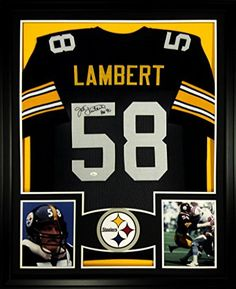 Jack Lambert Framed Jersey Signed JSA COA Autographed Pittsburgh Steelers Mister Mancave http://www.amazon.com/dp/B00R3H5PEO/ref=cm_sw_r_pi_dp_jtKswb1J1XVQ2